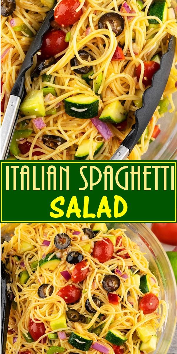 ITALIAN SPAGHETTI SALAD #pastarecipes