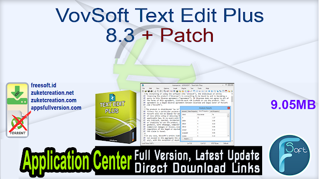 VovSoft Text Edit Plus 8.3 + Patch