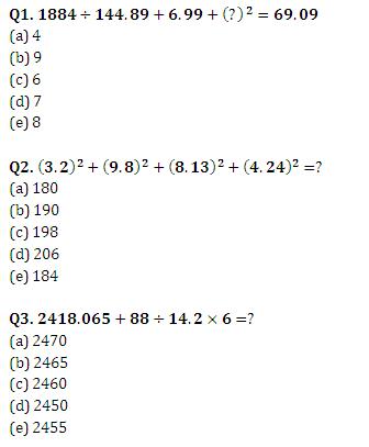 Night Class: Quantitative Aptitude Questions for IBPS Clerk
