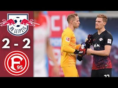 Video RB Leipzig 2-2 Fortuna Dusseldorf: Vòng 32, VĐQG Đức
