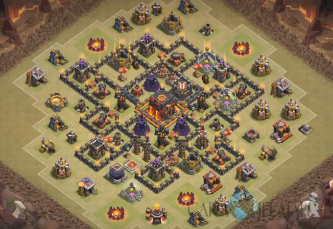 Base War TH 8 di Clash Of Clans Terbaru 2017 Tipe 13