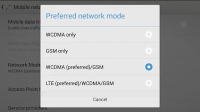 Gunakan Mode Jaringan yang Tepat