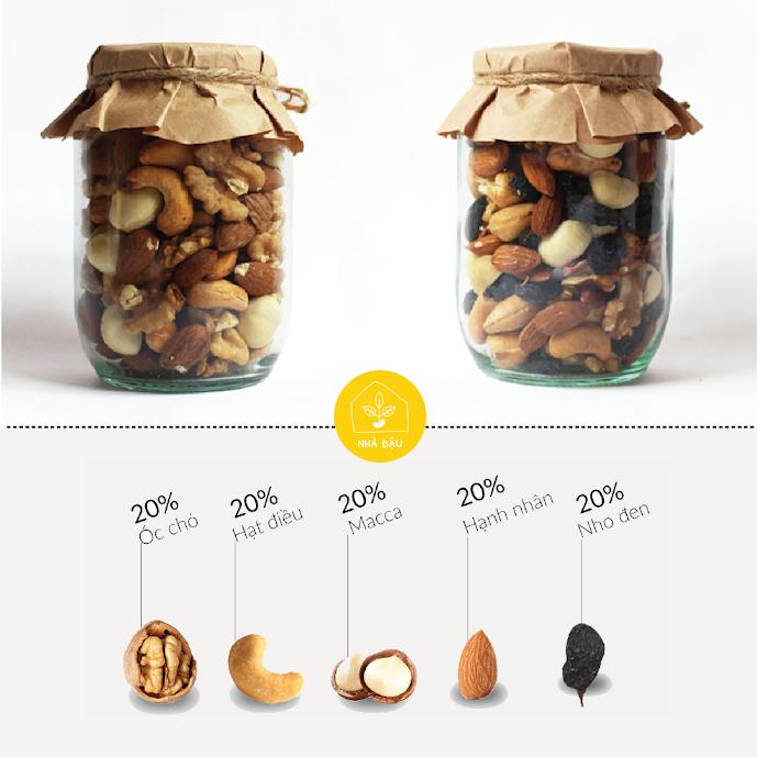 Combo 5 loại hạt dinh dưỡng tách vỏ Nhà Đậu cực tốt cho thai phụ