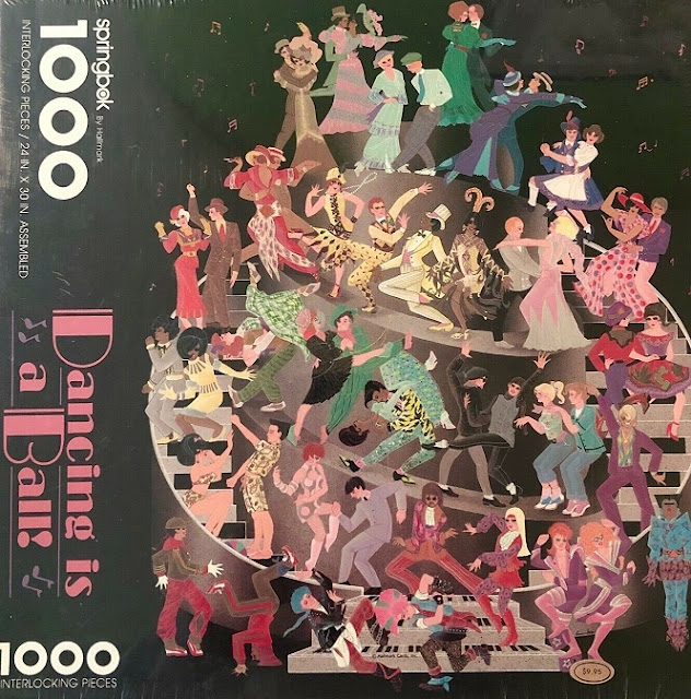 Vintage Springbok Dancing is a Ball Jigsaw Puzzle