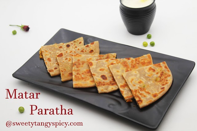 Matar Paratha | Stuffed Green Peas Paratha | Indian Flat Bread With Spicy Green Peas Filling