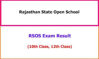 RSOS 10th 12th Exam Result 2021