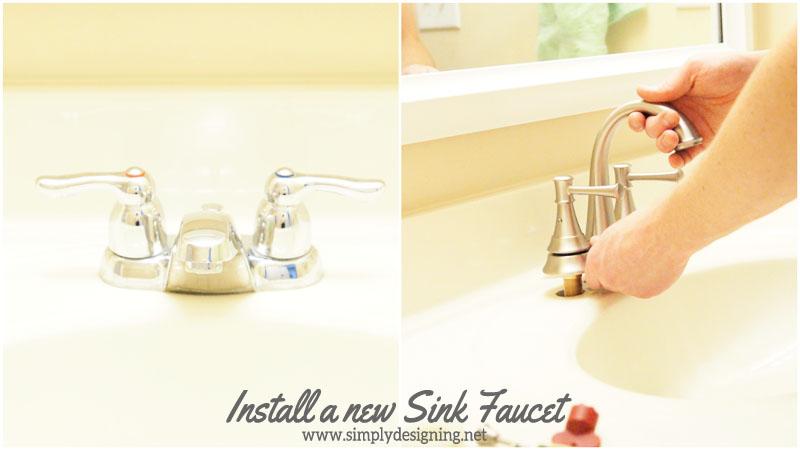 Good How to Install a New Sink Faucet diy bathroom bathroomremodel remodel