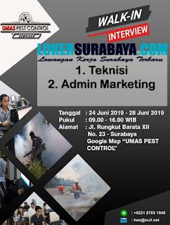 Walk In In Terview di PT. Umas Pestisindo Pratama Surabaya Terbaru Juni 2019