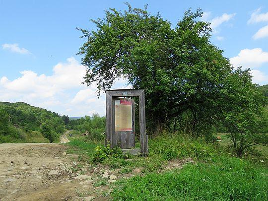 Drzwi do nieistniejącej wsi Radocyna.