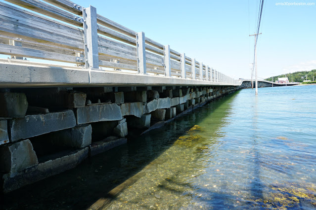 Puente Bailey Island Bridge en Harpswell, Maine