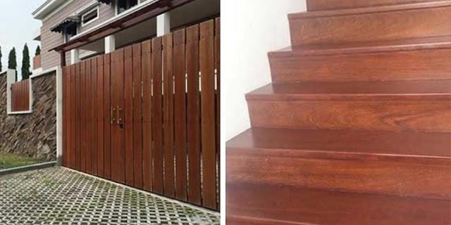 pagar & tangga kayu ulin