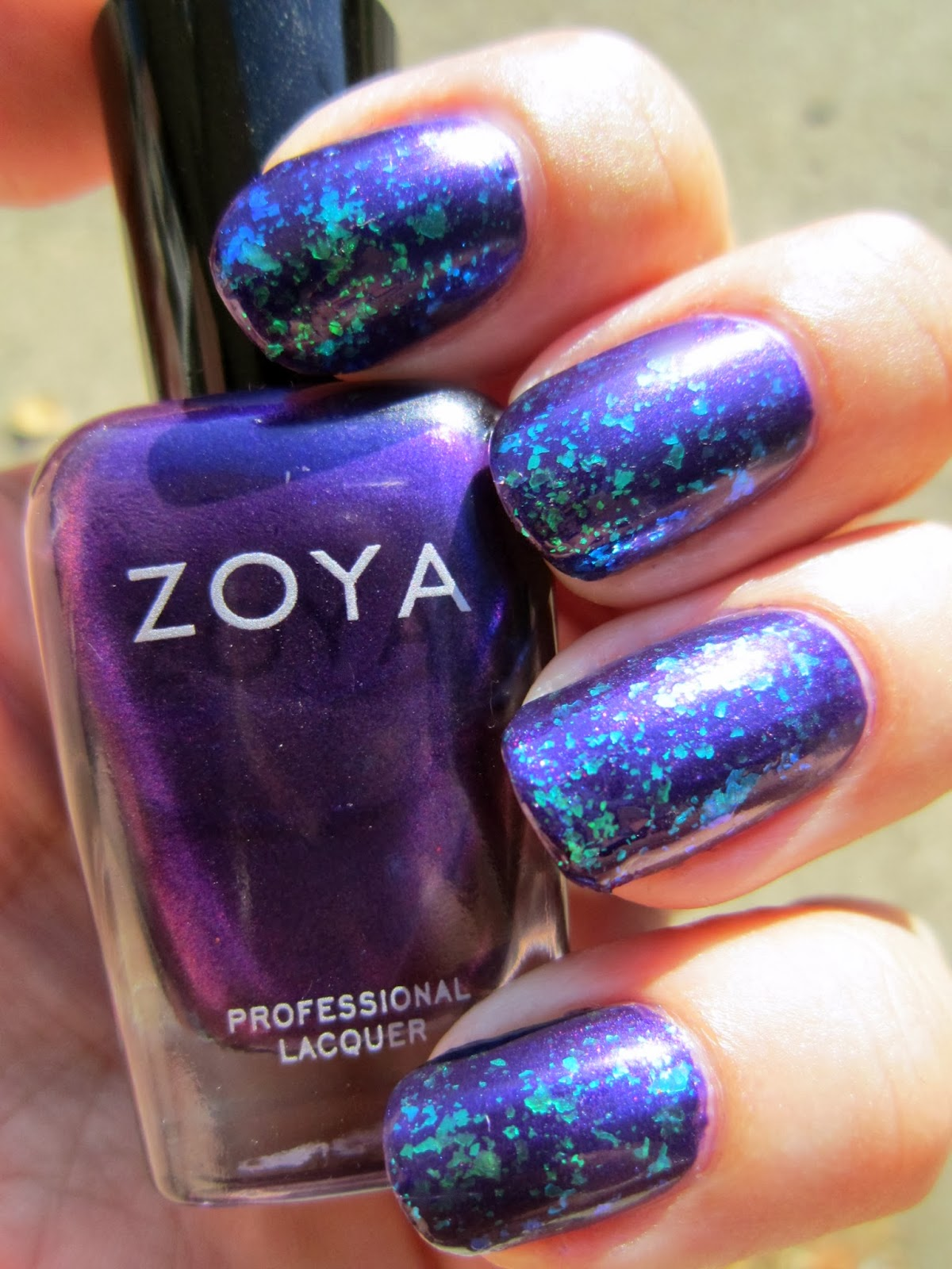 Concrete And Nail Polish: Layering With Zoya Belinda & Maisie