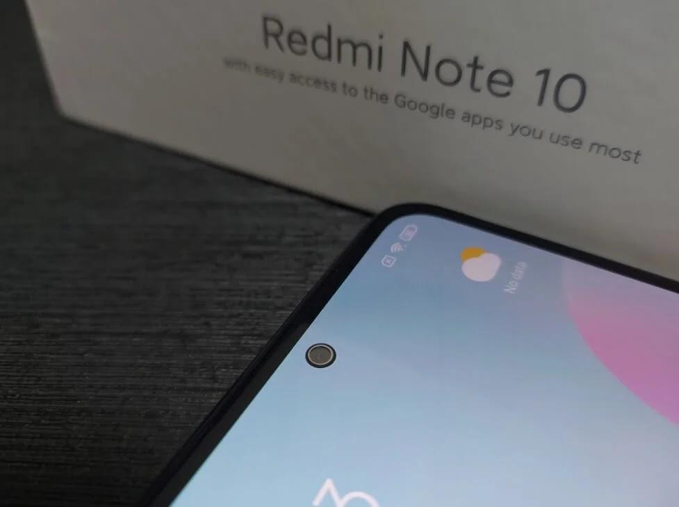 Xiaomi Redmi Note 10 13MP Front Camera