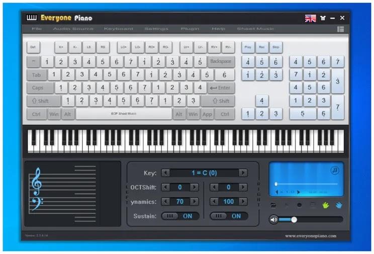 Everyone Piano : Παίξτε πιάνο με το πληκτρολόγιο του υπολογιστή σας