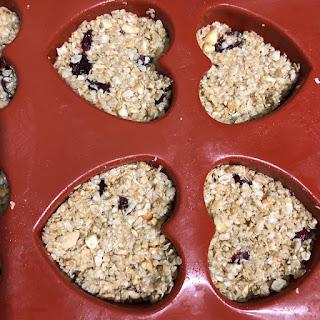 Coeurs de céréales aux noix de cajou et cranberries avant cuisson