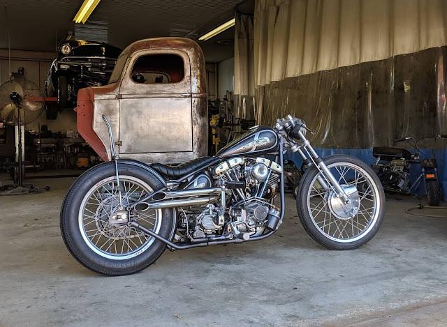 Harley Davidson Shovelhead By Te Customs Hell Kustom