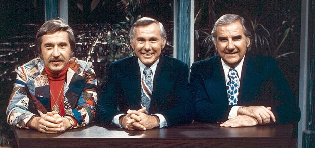 Doc Severinsen, Johnny Carson and Ed McMahon