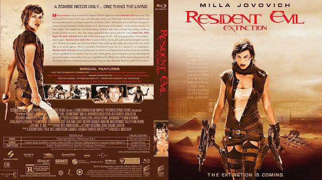 Resident Evil Extinction Bluray Cover