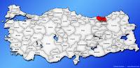 Trabzon ilinin Türkiye haritasında gösterimi