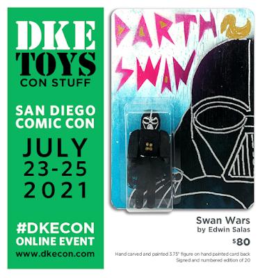 San Diego Comic-Con 2021 Exclusive Darth Swan Star Wars Wood Figure by Edwin Salas x DKE Toys