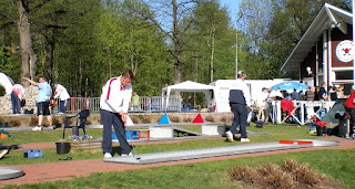 Richard Gottfried in action at the Minigolf Nations Cup 2008 in Tampere, Finland