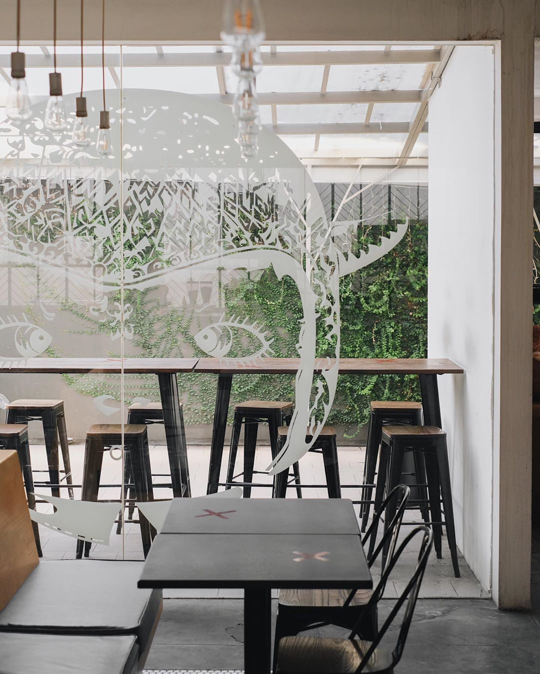 Labore Coffee Eatery Cafe Instagramable Malang Interior Hijau