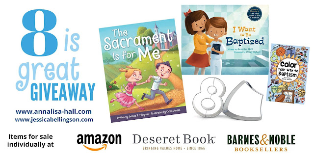 "Baptism-themed ""8 is Great"" Giveaway from author Jessica B. Ellingson!"