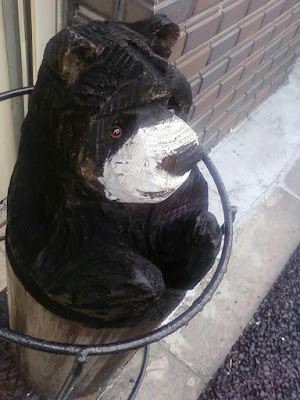 Wood carving of the bear