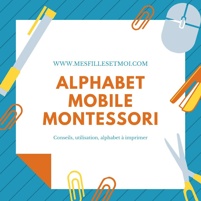 Alphabet mobile montessori lettres cursives maternelle primaire ief