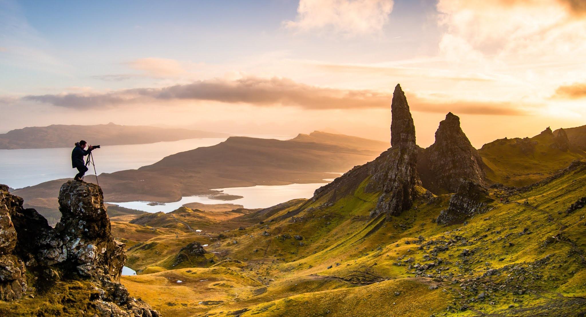 Закаты на острове Скай в Шотландии
