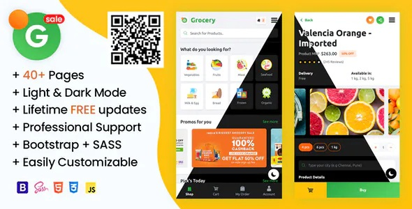 Best Online Grocery Supermarket HTML Mobile Template