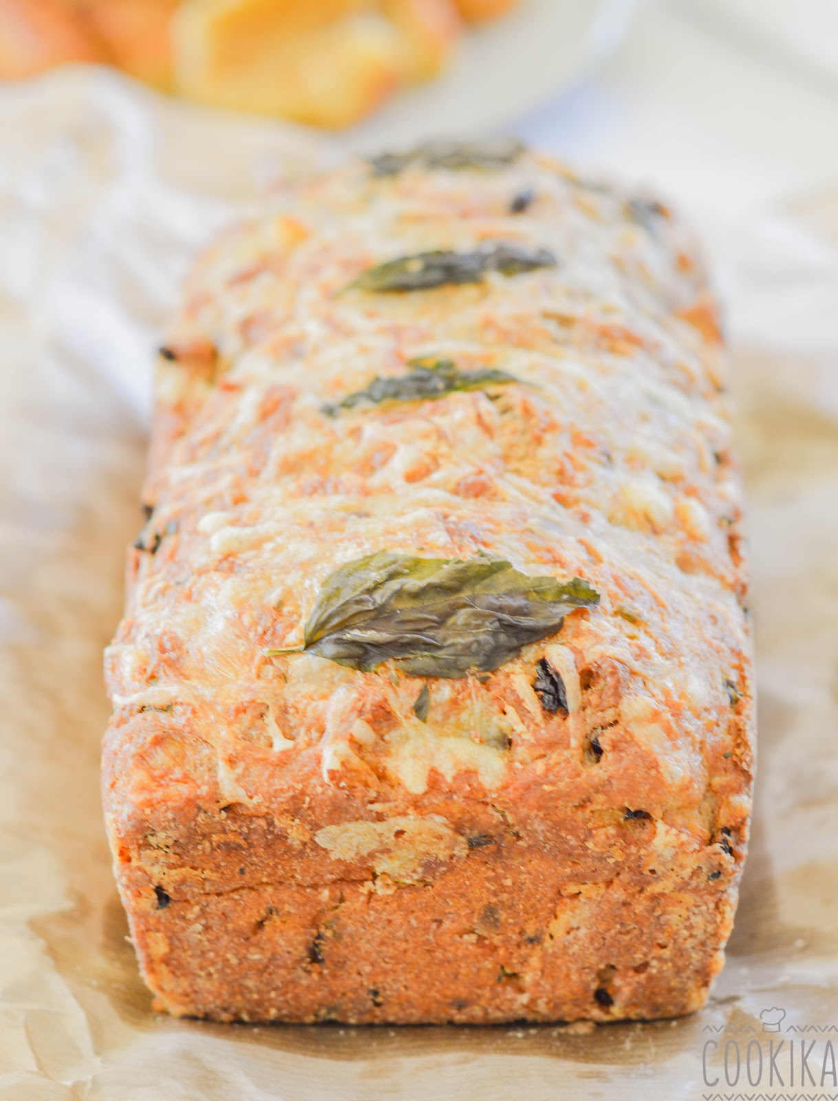Cake with Sundried Tomatoes and Basil