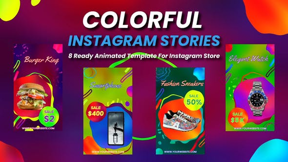Colorful Instagram Stories[Videohive][After Effects][28334317]