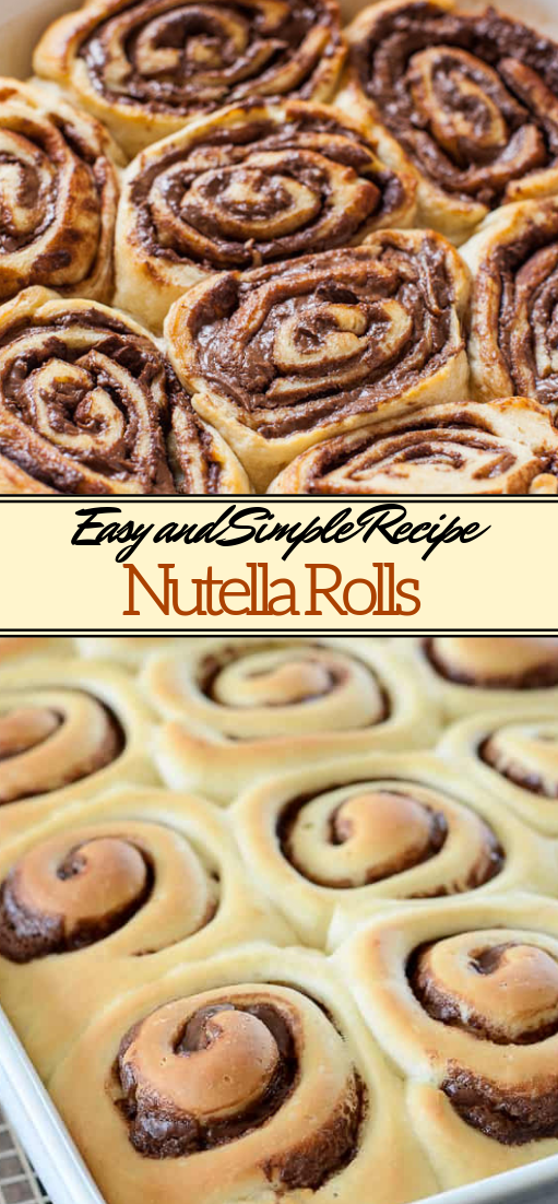 Nutella Rolls #desserts #cakerecipe #chocolate #fingerfood #easy