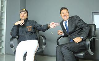 終始笑顔で対談した高橋監督(左)と高橋尚成氏