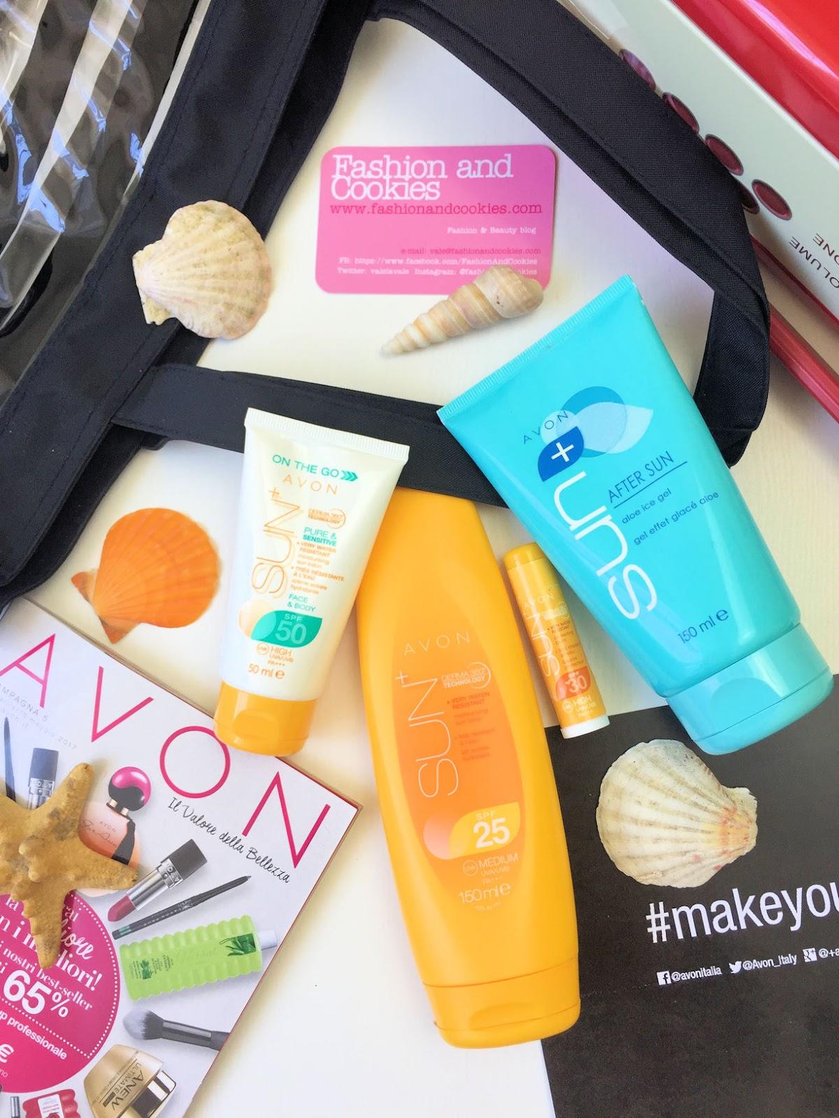 Come proteggere la pelle al mare: recensione solari AVON SUN+ su Fashion and Cookies beauty blog, beauty blogger