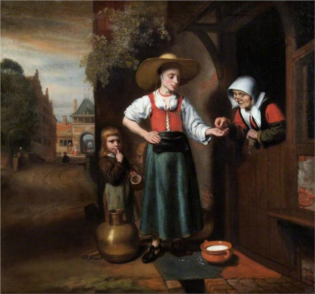 Nicolaes Maes - Молочница