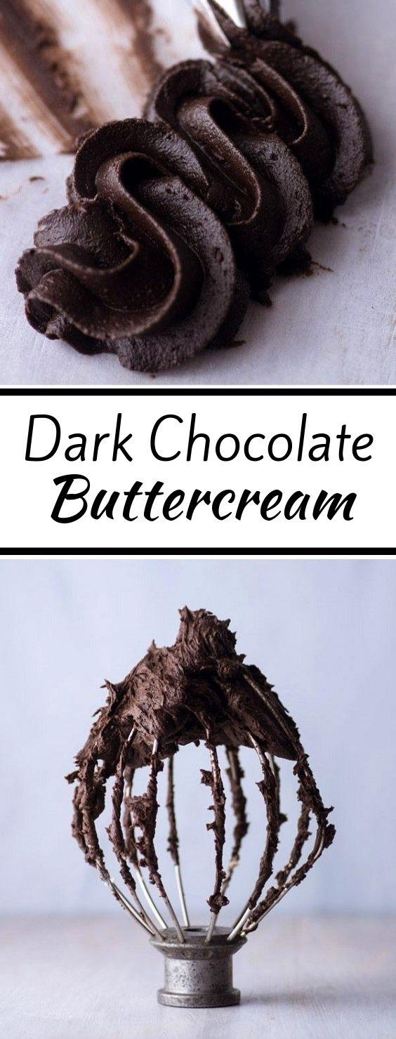 Dark Chocolate Buttercream #dessert