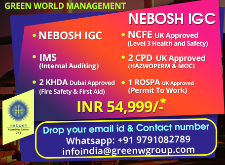Nebosh Certification Program In India Are You Looking For Nebosh