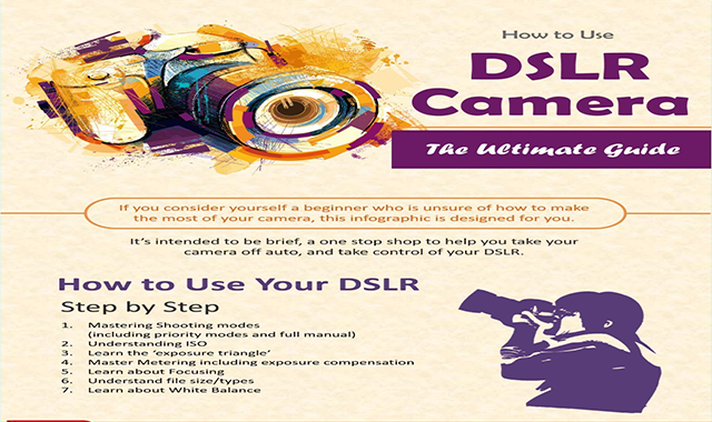 How to Use a DSLR Camera Cheat-Sheet #infographic