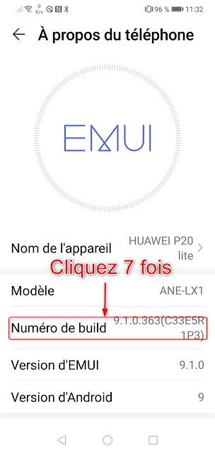 Android - Option pour les développeurs