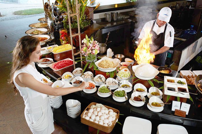 Bluewater Resort Panglao Sumptuous Breakfast Spread