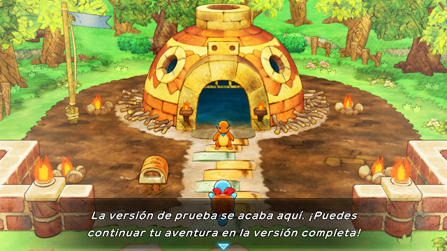 Charmander Squirtle Pokémon Mundo misterioso DX Fin de la demo