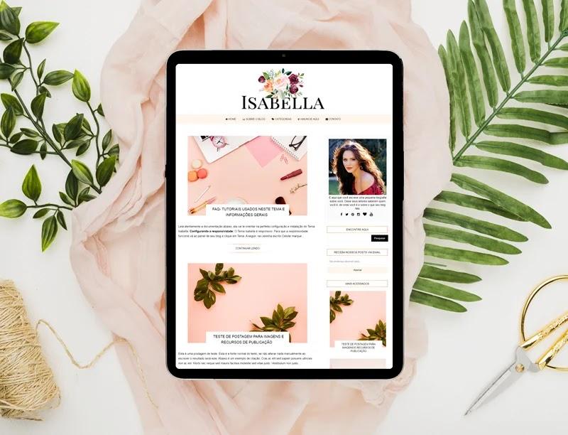 Template grátis para download- Tema Isabella