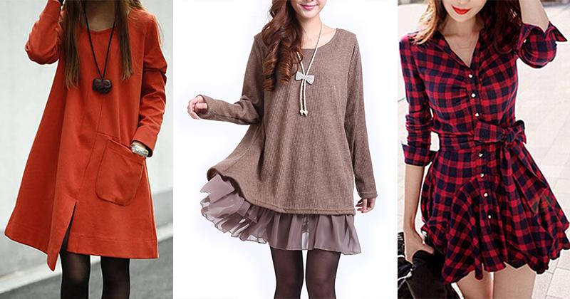 Vestidos Casuais para Usar no Outono/ Inverno