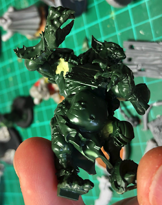 blood bowl troll conversion side/front view