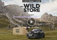 Logo Amazon The Wild Store: gratis soggiorno Renault KADJAR e TV a soli 10€