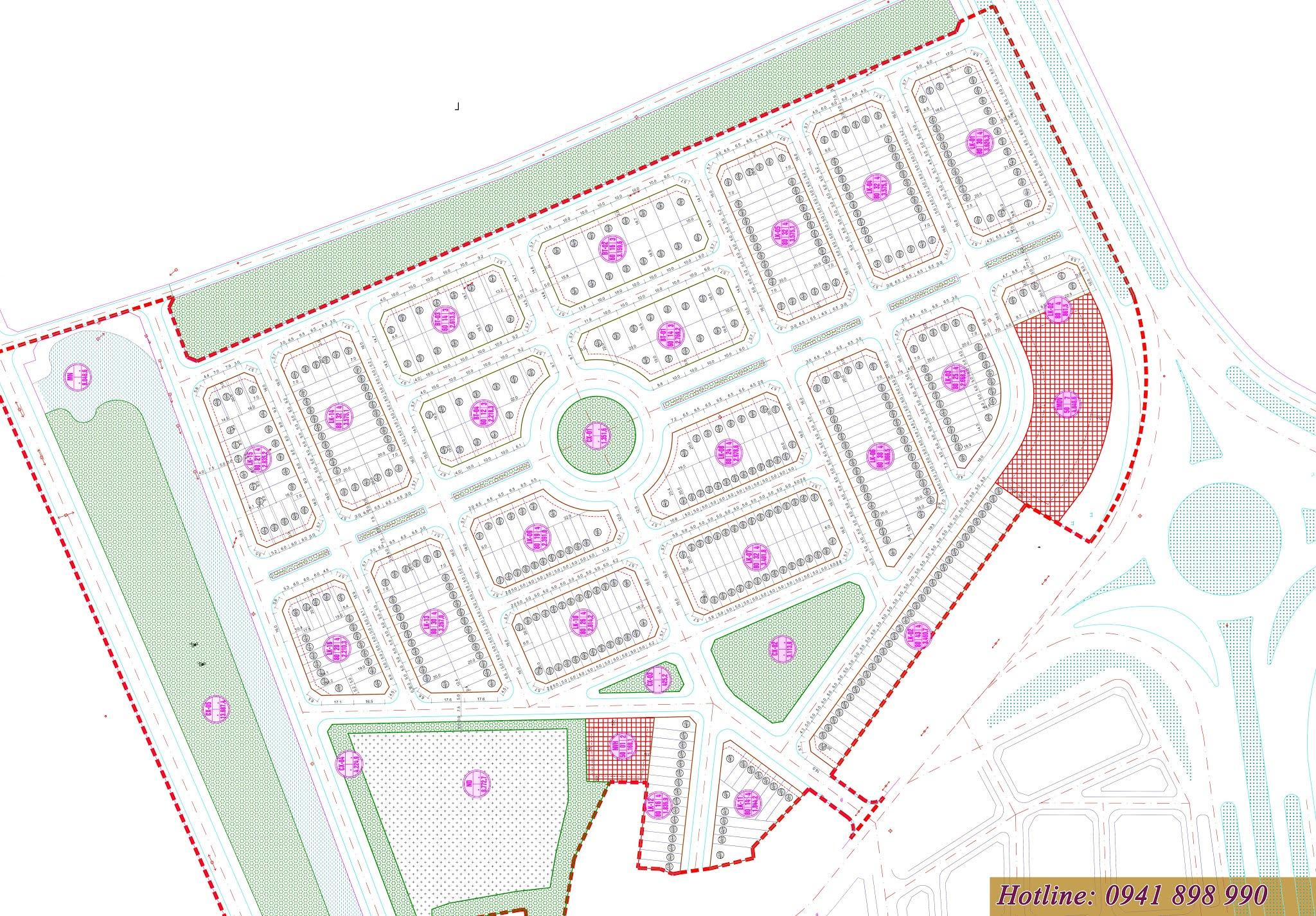 Mặt bằng dự án Hano Park 2