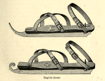 English skates from Skating by JM Heathcote et al (1892)