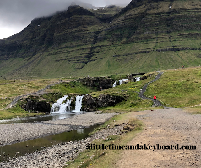 Magical moment walking around Kirkjufellsfoss on the Snaefellsnes Peninsula in Iceland.